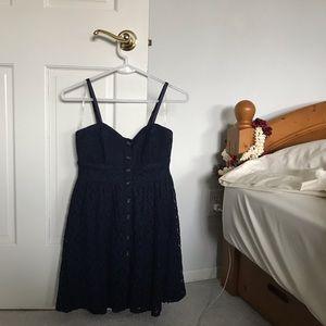 navy blue button-up dress !!